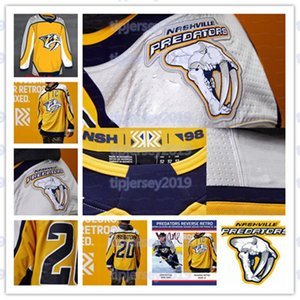 2020-21 Restare Retro Nashville Predator Matt Duchene Hockey Jersey 필립 Forsberg Ryan Johansen Connor Ingram Viktor Arvidsson 로마 Josi