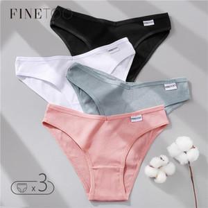 Finetoo kadın külot pamuklu iç çamaşırı M-XL seksi v bel külot kızlar düşük katlı yumuşak külot kadın külot kadın iç çamaşırı yeni