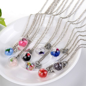 Fashion Crystal heart drift wishing bottle ball pendants Necklaces for women fashion glass necklace DIY jewelry will and sandy new