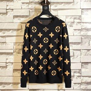 Moda nuevos diseñadores para hombre suéteres populares de manga larga impresión bordado cuello redondo suéter de lana de alta calidad Hiphop Streetwear