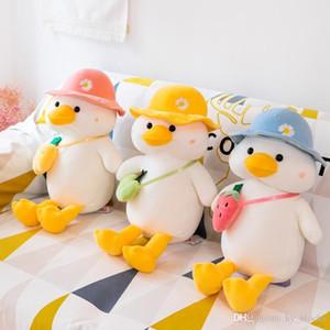 30-60 cm Patitos de peluche juguetes caballeros suave peluche muñecas de animales desgaste un bolso de sombrero Duck niños juguete regalos