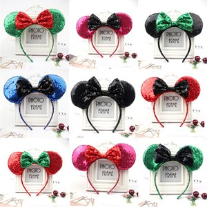 Decorazioni di natale e di Halloween e decorazioni di qualità Sequins Fasciature Bella Big Bow Fascia per bambini Adulti Party Hair Jewelry 53 Styles GWWE3255