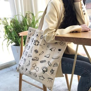 2021 New High Quality Canvas Cotton Women's Bag Drawstring Shoulder Bag Female Japan Bucket Youth Crossbody Whole Sale