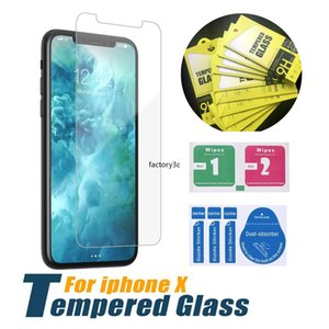 Screen Protector for iPhone 12 11 Pro Max XS Max XR Tempered Glass for iPhone 7 8 Plus for note Protector Film 0.33mm with Paper Box