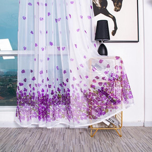 Window Curtain Sheer Voile Smooth Tulle Valance Scarf for Bedroom Living Room