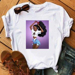 ZOGANKIN Cool Melanin Black Girl Printing O-Neck T Shirt Sexy Girl lovely Tops Hip Hop Style Streetwear Casual Female shirts #E482