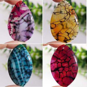 Charms Dragon Veins Agates Multiple Shape Pendant Pendente perline per gioielli facendo 1pcs Charming Stone Bead1