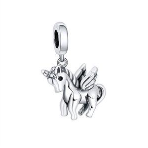 Youe Shone Unicorn Charms 925 Стерлинговое серебро DIY для девочек Браслет DIY 925 Оригинальные кулонные ювелирные изделия Love Gifts B1205