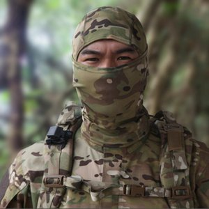 Quick Drying Multicam Balaclava Full Face Shield Fishing Camping Cycling Helmet Liner Cap Tactical Camouflage Scarf