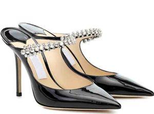 Элегантные женские насосы Bing Sexy Crazing Noy Crystal Relds Stiletto каблуки леди High каблуки платье вечеринка свадебный свадьба лучший подарок с коробкой, EU35