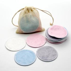 20pcs / pack / confezione riutilizzabile tampone di rimozione del trucco per il trucco di cotone Microfiber Lavabile Rounds Determinazione Strumenti per il viso Make up Pad di rimozione