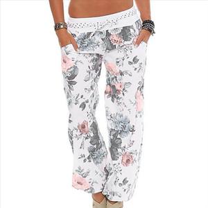 38 Women Floral Trousers Long Pants Baggy Leggings Plus Size Leggings Sport Women Fitness Workout Athletic Training Gym Legging