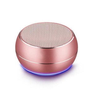 LED Light R9 Mini Bluetooth Speakers Metal Subwoofer Wireless Speaker Computer TF FM Mic For iPhone X 8 Samsung S8 Charge 3 Pluse