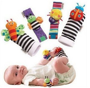 2020 New Arrival Wrist Rattle & Foot Finder Baby Toys Baby Rattle Socks Plush Wrist Rattle Foot Baby Socks