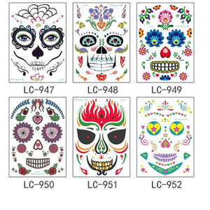 Stage Halloween Christmas Environmental Party Props Art Makeup Face pretty tattoo Sticker Waterproof