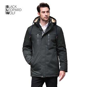 Blackleopardwolf winter jacket men's fashion coat parka coat thick comfortable cuffs detachable coat BL-6605 201120
