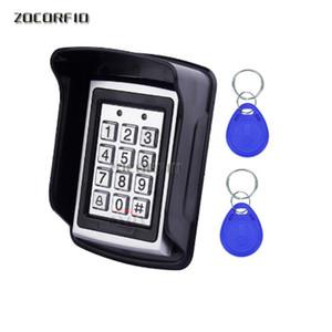 RFID Metal Access Control EM Cardez-le-Clavier de lecteur de carte avec 5 EM4100 Keyfobs Couvercle de protection étanche pour système de contrôle d'accès à la porte