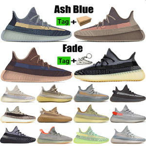 Novo Best Ash Stone Blue Pearl Fade Kanye v2 Homens Correndo Sapatos Carbono Natural Cinder Terra Israfil Nuvem Branco Mens Mulheres Sneakers