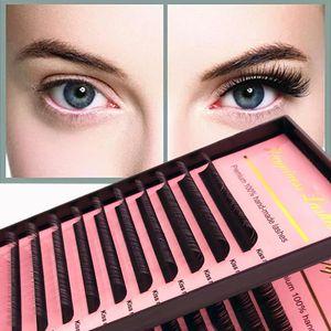 Soft Mink Eyelash Extension Silk Individual Lash Supplies Deep Ma12 Lines Natural Looking HPNESS