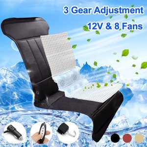 Car Interior Massage Breathable 8 Built-in Fan Cushion Summer Cooling Lumbar Universal Seat Cushion Support Cool Pad Car Styling