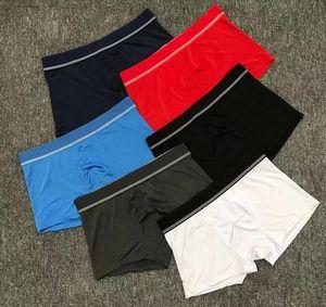 Novo 2020 Designer Masculino Boxer Moda Ice Silk Men's Underwear Sports Sweat-Absorvente Mens Underpants Breets Briefs Boxer
