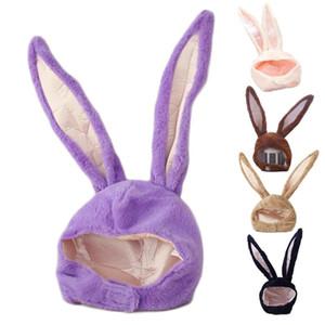 Funny Long Ears Plush Hood Hat Stuffed Toys Cosplay Costume Warm Headgear Easter Halloween Party Favors Cap