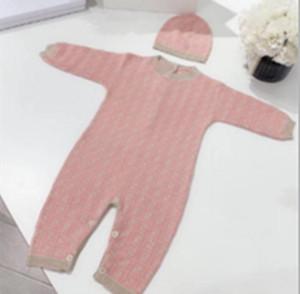 NEWBRON Bébé Tricoté Beaux Cheveux Enfants Fashion Crochet Design Jumpsuits d'escalade One-Piece + Chapeau Bebe Vêtements
