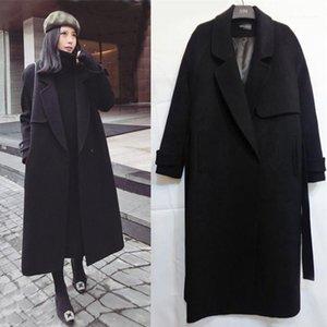 여성용 양모 혼합 Yaapeet 겨울 코트 여성 코트 캐주얼 Outwear Overcoat Clothing Jackets 윈드 브레이커 Black11