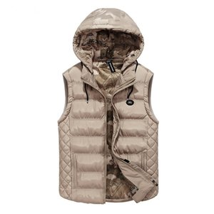 Men's hooded Casual Vest Classic design thicken Khaki Waistcoat High quality Mens Jacket Sleeveless Vest brand clothing