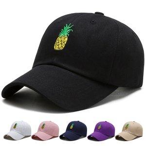 Hommes Femmes Baseball Casquettes Étudiants Étudiants Ananas Broderie Mode Casquettes Peines Hip Hop Sunshade Chapeau 5 5AT J2