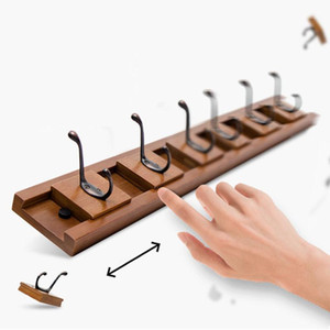 Wall Mounted Coat Rack Wooden Vintage Entryway Hook Rail Hat Hanger Rack Mobile Hooks for Coat Hat Towel Purse Robes Bathroom1