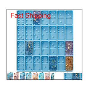 Silicone Resin Molds Domino Double Six Epoxy Resin Casting Game Mold Diy Silicone Moldel For Personalized Dominoes Kimter-C427Fz 8H1A4