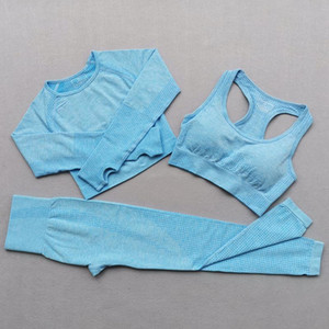 Vital Seamless Yoga Set Women Sportswear Sports Bra Long Sleeve Crop Top Women Running Gym Leggings Fitness workout set