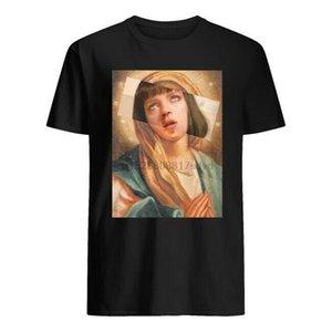 Fiction Pulp Vergine Maria Mia Wallace Uma Thurman Pulp Fiction Atheist per la gioventù mezza età I vecchi designer maglietta da uomo con cappuccio grafico