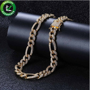 Iced Out Chains Mens Designer Necklace Hip Hop Jewelry Cuban Link Chain Luxury Bling Rapper Hiphop Micro Paved CZ Gold Pandora Style Charms