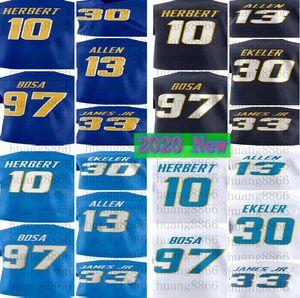 2020 nuovi uomini 10 Justin Herbert 97 Joey Bosa Keenan Allen 33 Derwin James JR 30 Austin Ekeler Jersey di calcio