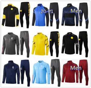 20 21 Mens tuta inter borussia dortmund Croazia Brasile Portugal soccer tracksuit full zip jacket 2020 2021 tuta da calcio Men Dortmund football training jogging