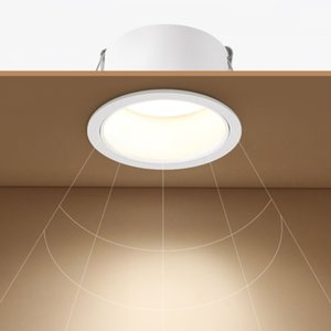 For indoor background wall downlight , deep glow led cob recessed downlight 7W 12W 15W round white ceiling spot lights KH-C21