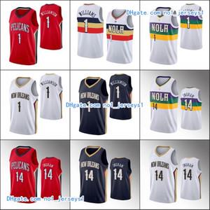 New OrleansPelicansMen Basketball Jersey Brandon Ingram Zion Williamson2019-20 Basketball Jerseys