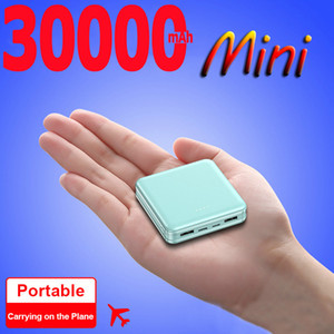 Smart 30000mAh Power Bank Portable Charger External Cell Phone Battery with 2 USB Ports for Iphone Samsung Xiaomi