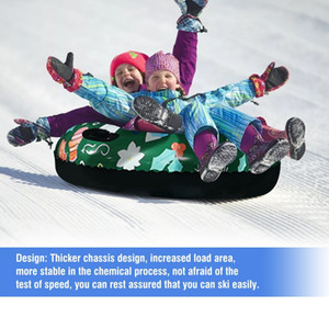 Floated Skiing Ring With Handle PVC Snow Sled Tire Tube for Kid Adult Snow Tube Skiing Equipments Snow Toy Ski Pad Outdoor Sport B1207