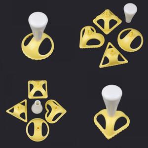 Cozinha Fazendo bolinhos Mold Triângulo Circular Love Heart Heart Maker Maker Quatro Peça Terno Venda Quente 3 2YF J2
