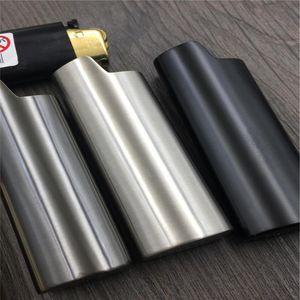 1 PZ Metal Armor Gas Accendisigari Shell Ice Mirror J6 Accendisigari Caso Generale Plastica Protezione del corpo Protezione del corpo Cover per BIC SQCZTZ BBGARGGARGEN
