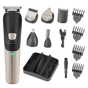 Beard Trimmer, 6 in 1 Hair Clipper, Electric Trimmer Shaver and Nose Trimmer, USB Electric Razor Professional Grooming Kit for Men