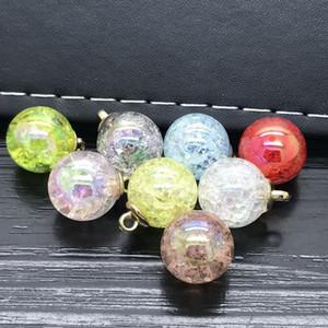 15mm 8pcs Belle perle Pendentif Cracks Perles Chaîne Collier Femmes bijoux 15mm 8pcs à bas prix Coupons Online WMTUJP BDEGARDEN