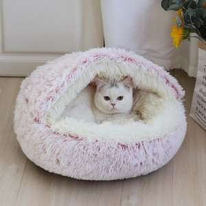 Warm Cat Bed Long Plush Winter Dog Cat House Cats Sleeping Bag Nest Kennel 2 In 1 Pet Bed Cushion Sofa Mat For Small Cats Puppy