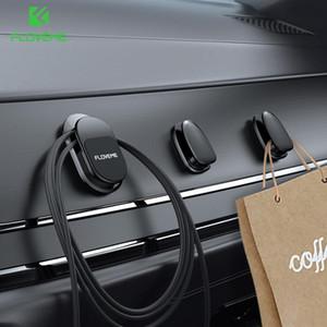FLOVEME 3Pcs Universal Magnetic Hook Car Phone Holder Cable Wire Mini Hooker Wall Kitchen Magnet Phone Holder Car Mount