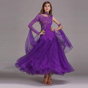 Modern Dance Costume Women Lady Adult Waltzing Tango Dancing Dress Ballroom Costume Evening Party Dress