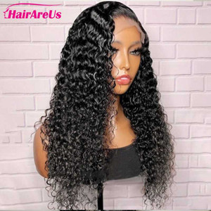 Brazilian Kinky Curly Swiss Lace Front Human Hair Wigs Pre Plucked Long Remy Curly Human Hair Lace Closure Wig For Black Women