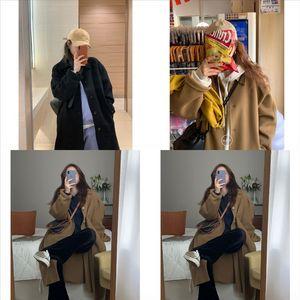 wtv nouveau printemps femmes femmes manteau manteau homme trench-manteau MINIM-LONG SLIM PLUS Taille coupe-vent Solide Femmes Couleur Couleur Casual De Laine de laine pour